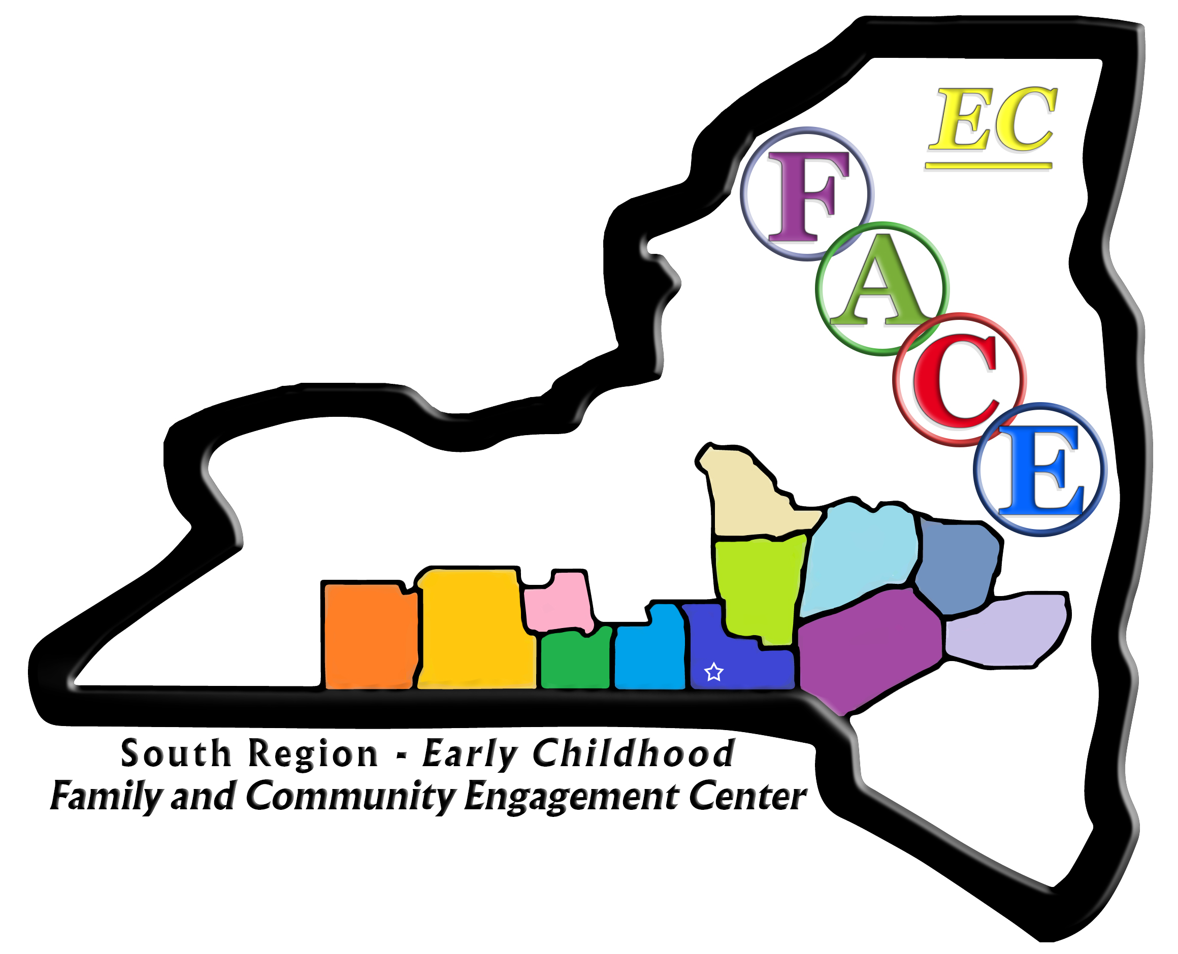 FACE logo with map of NY state counties covered, and is also link back to FACE home page within STIC site.