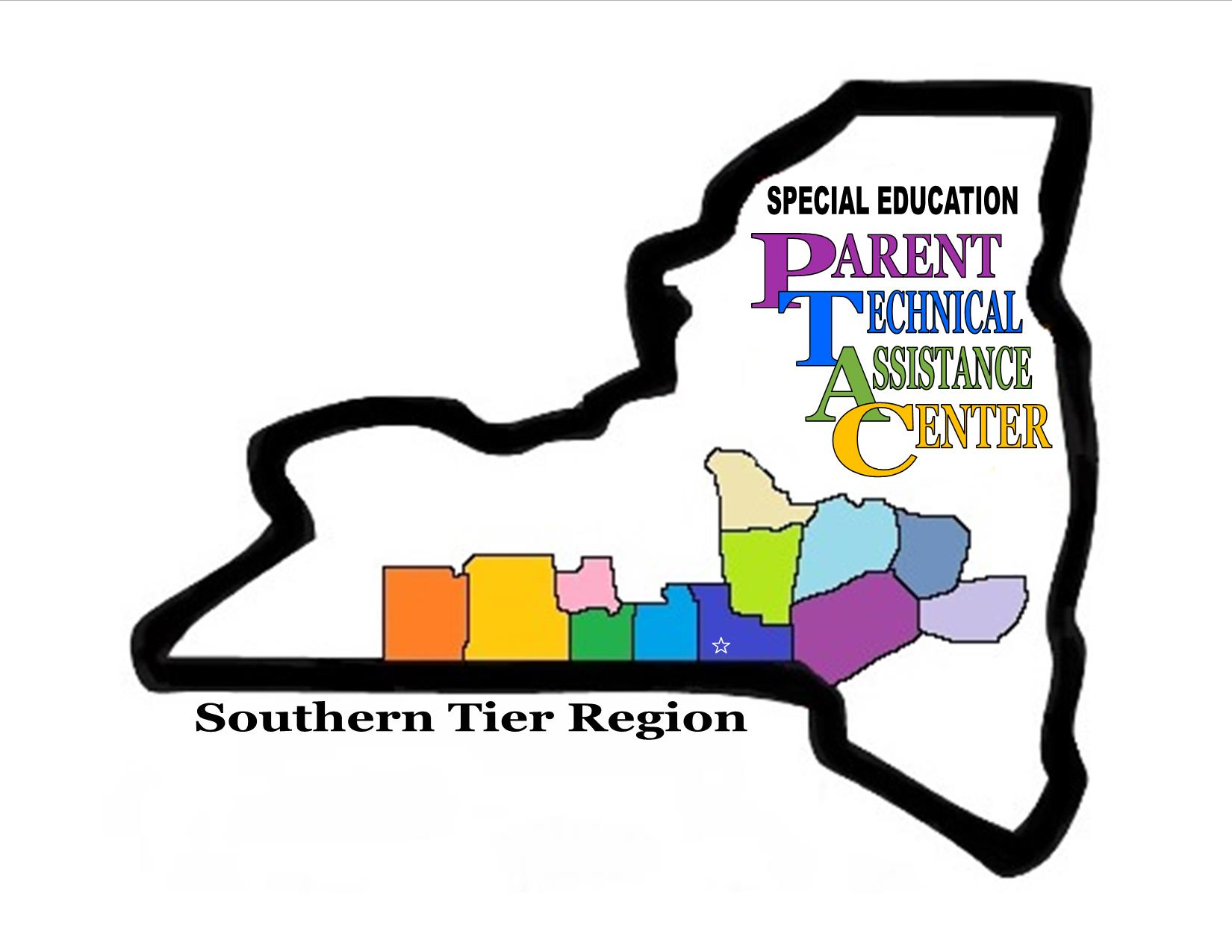 Image of NY state with counties color for service area for PTAC.