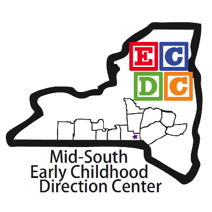 ecdc logo with map of NY state
